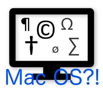 Tastenkombination für Sonderzeichen auf Mac